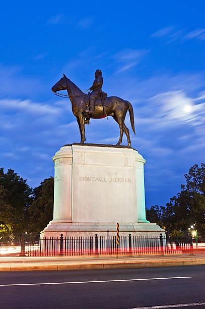 Stonewall Jackson Monument In Richmond, Virginia Thomas Jonathan Jackson Was Given The Name