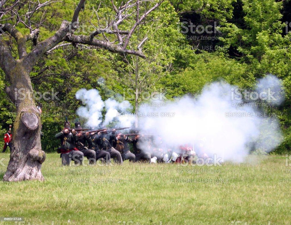 Stoney Creek Battlefield combat 2009 stock photo