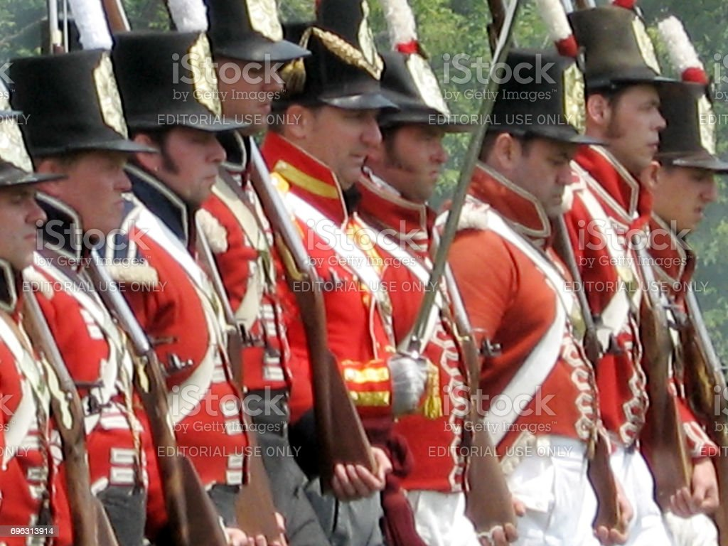 Stoney Creek Battlefield soldiers in British form 2009 stock photo