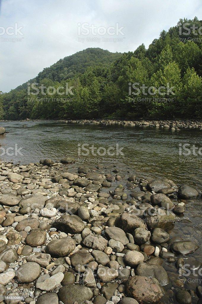 Stoney River Shore royalty-free stock photo
