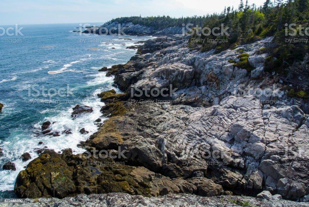 Stoney Shore on Isle au Haut, Acadia National Park, Maine stock photo