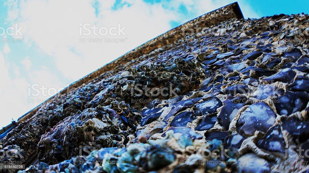 Stoney/Pebbled wall stock photo