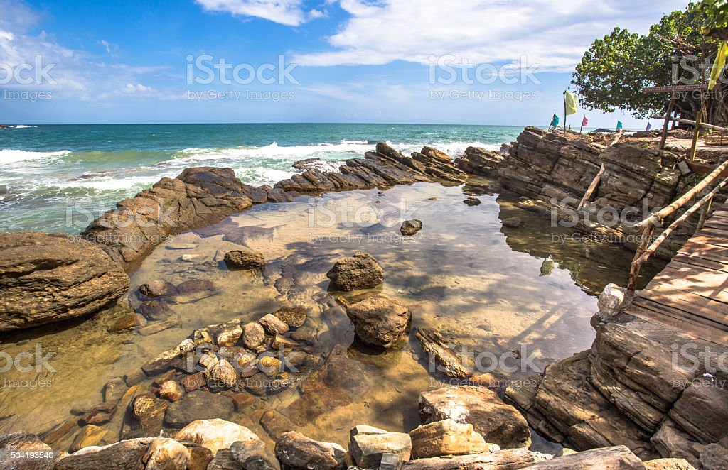 Stony area stock photo