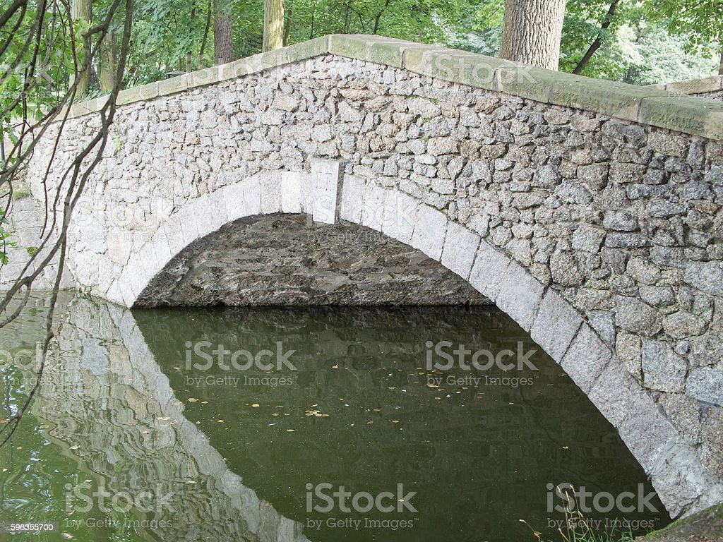 Stony Bridge With Reflection In The Water royalty-free stock photo