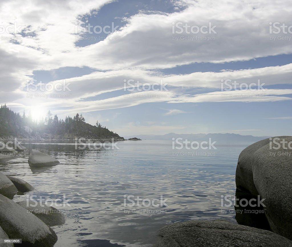 Stony coastline royalty-free stock photo