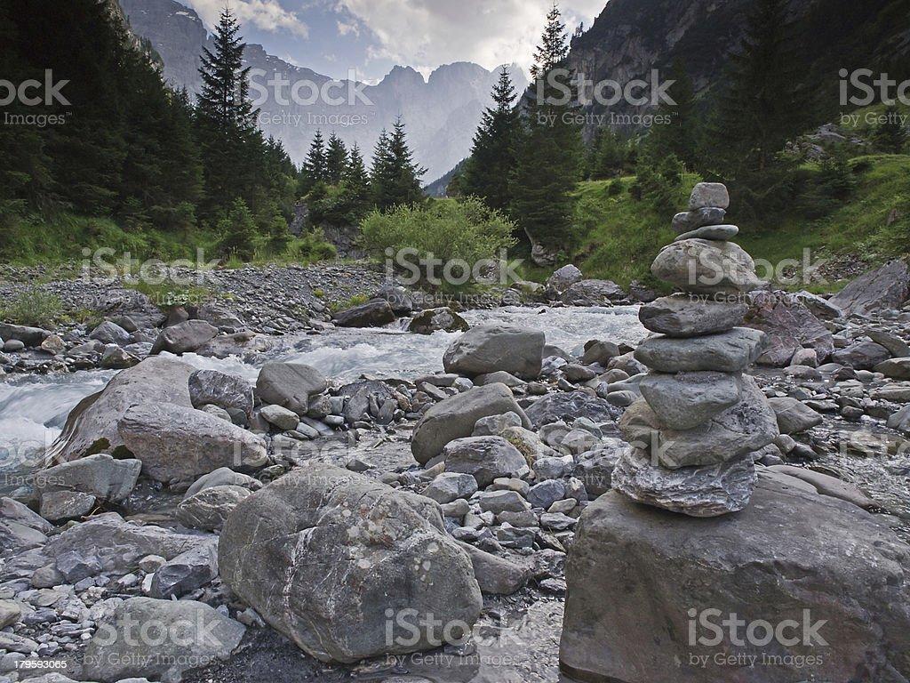 Stony creek bed royalty-free stock photo
