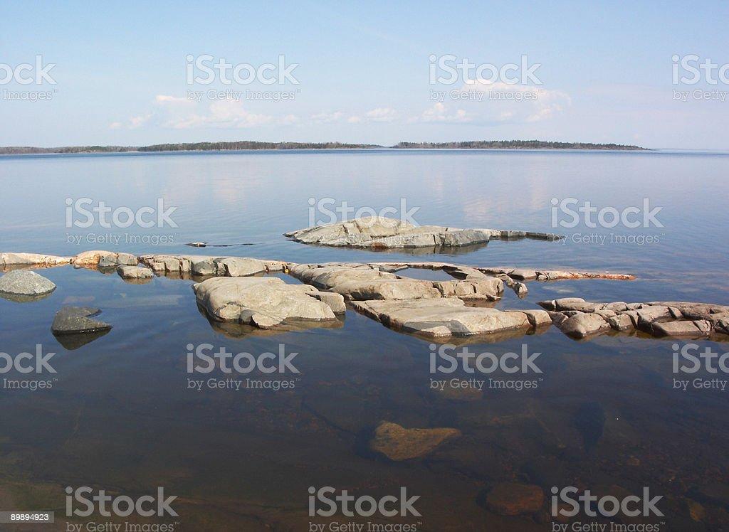 Stony islas de fondo foto de stock libre de derechos