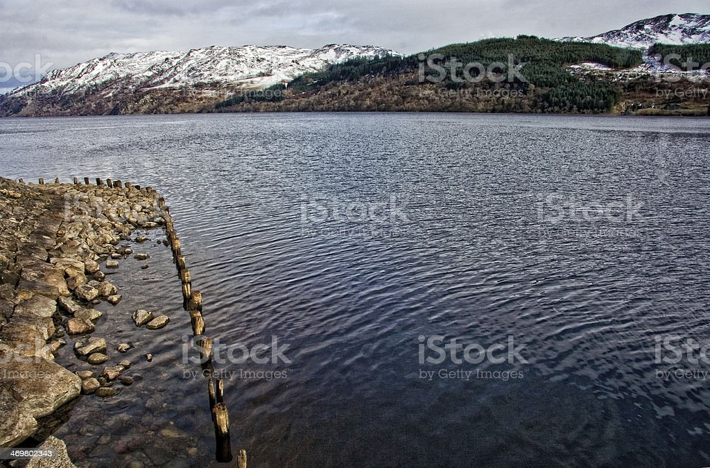 Stony shore stock photo