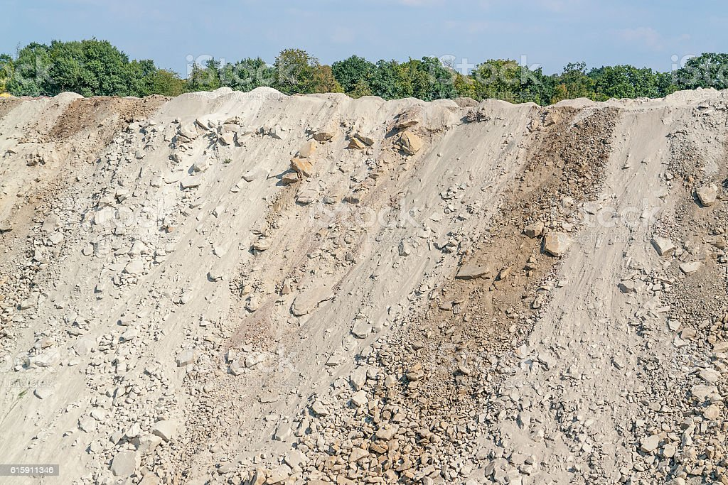 stony slope scenery stock photo