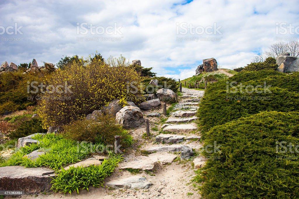 Photo libre de droit de Stony Escaliers En Pierre Au Jardin ...
