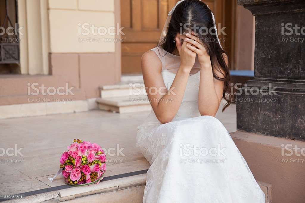 Stood up at the altar stock photo