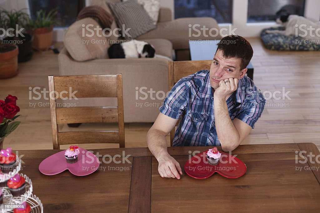 Stood up for Valentines day stock photo