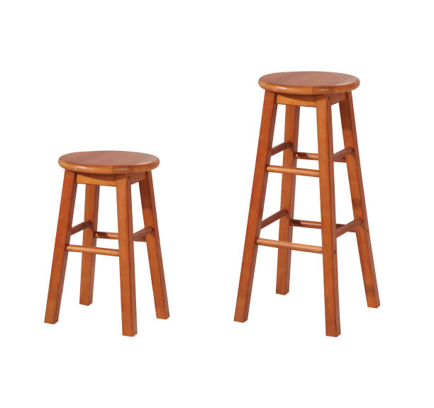 Stool chairs Stool chairs in different height isolated on white background with clipping path. stool stock pictures, royalty-free photos & images