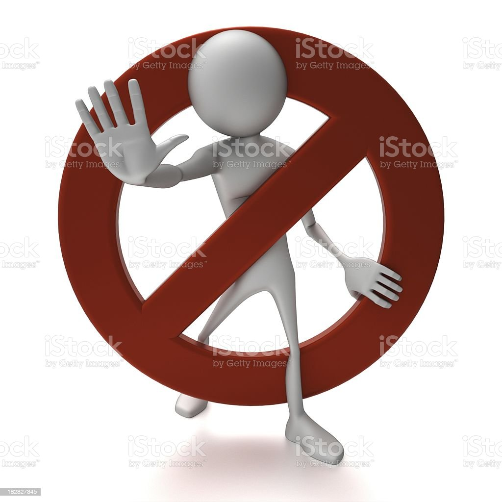 Stop!  -  Abstract 3d people royalty-free stock photo