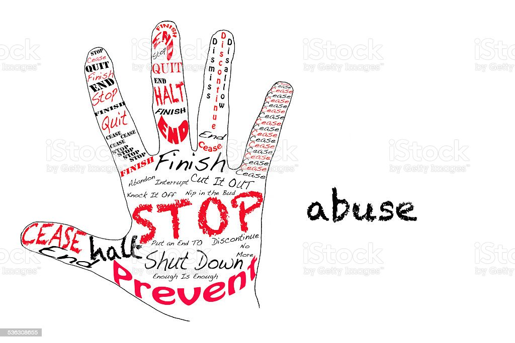 Stop Abuse stock photo