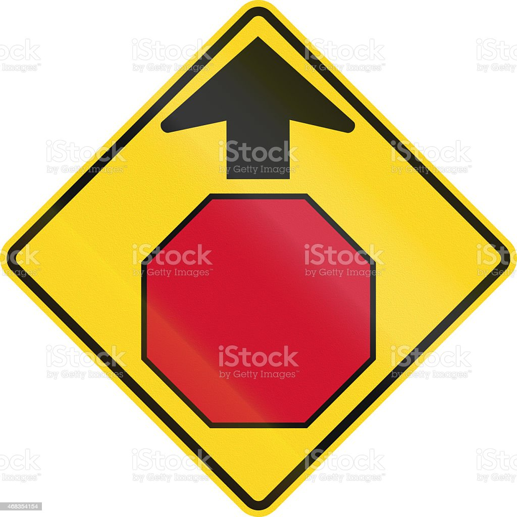 Stop Ahead In Canada royalty-free stock photo
