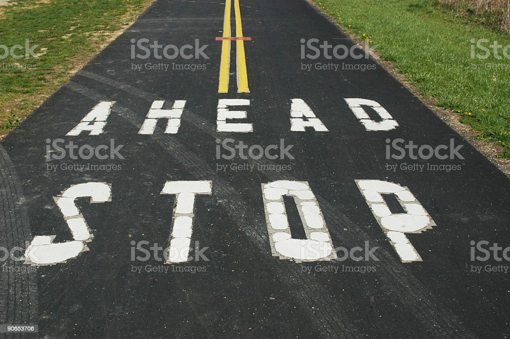 Stop Ahead Sign Painted 1 royalty-free stock photo