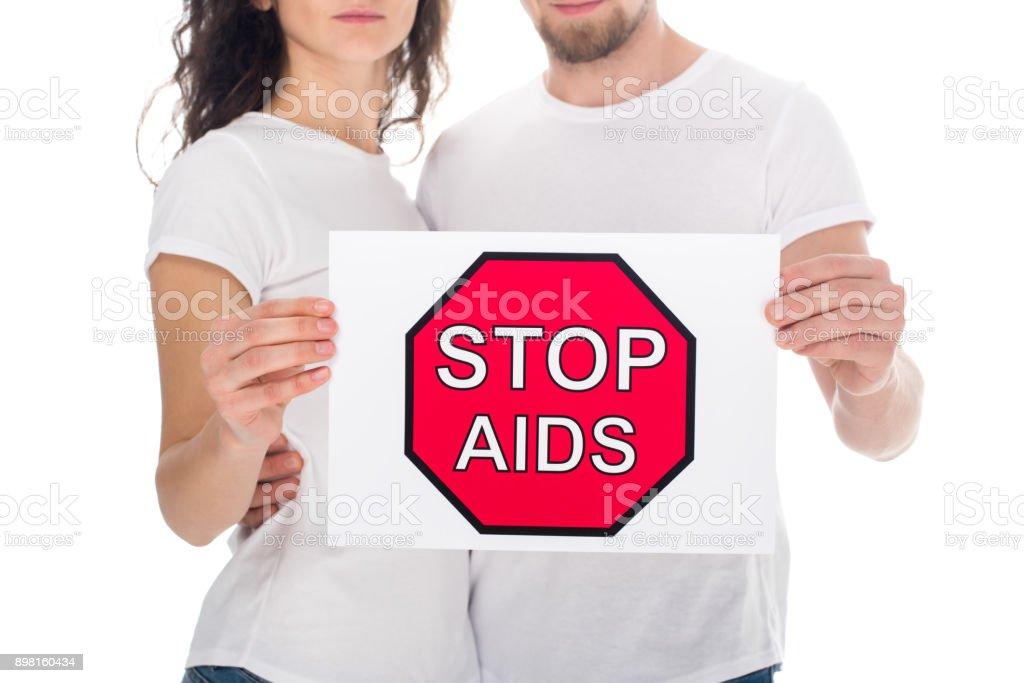 stop aids stock photo