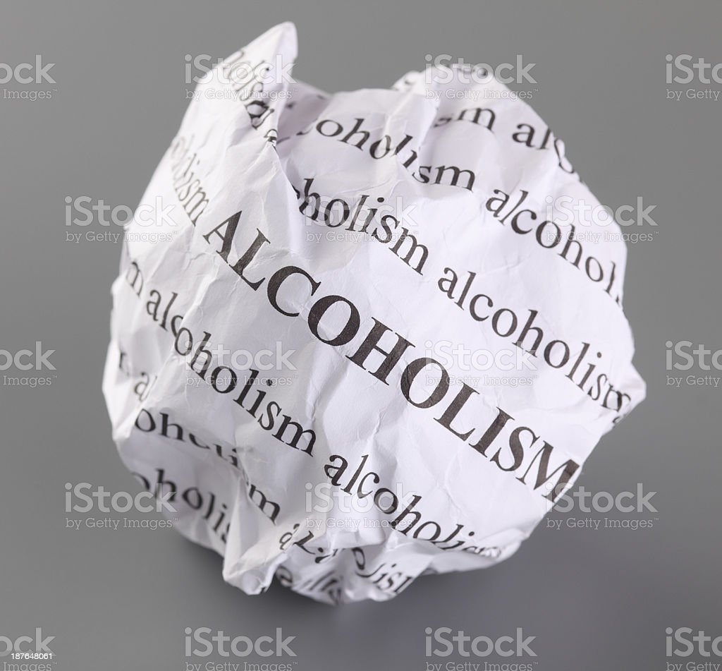Stop Alcoholism royalty-free stock photo