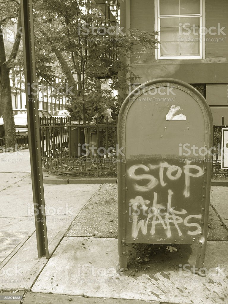 stop all wars sign royalty-free stock photo