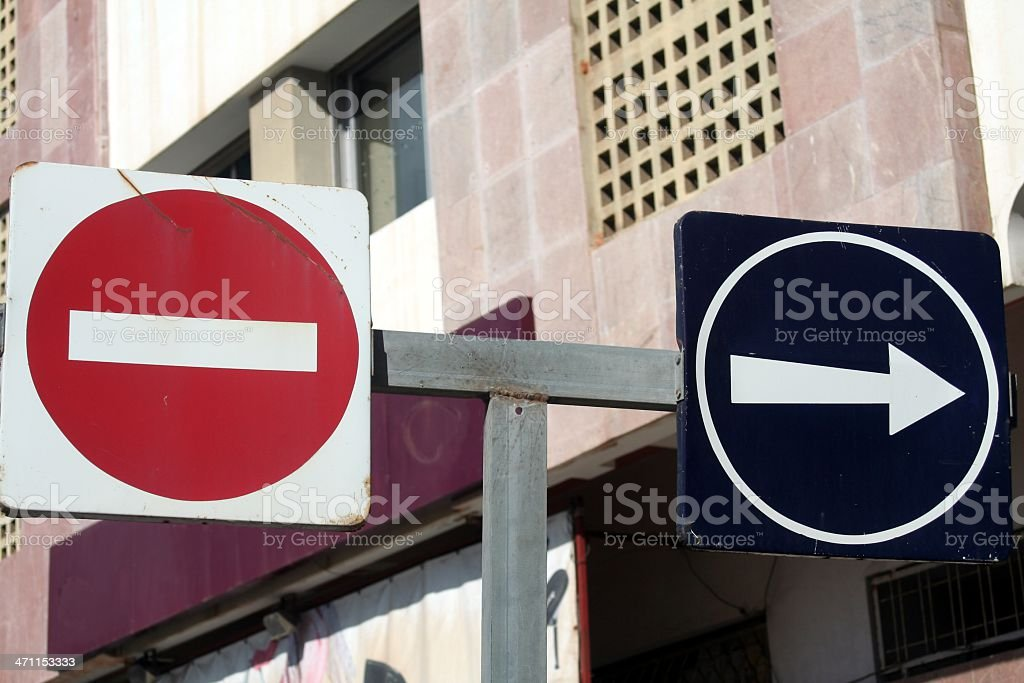 Stop and go royalty-free stock photo