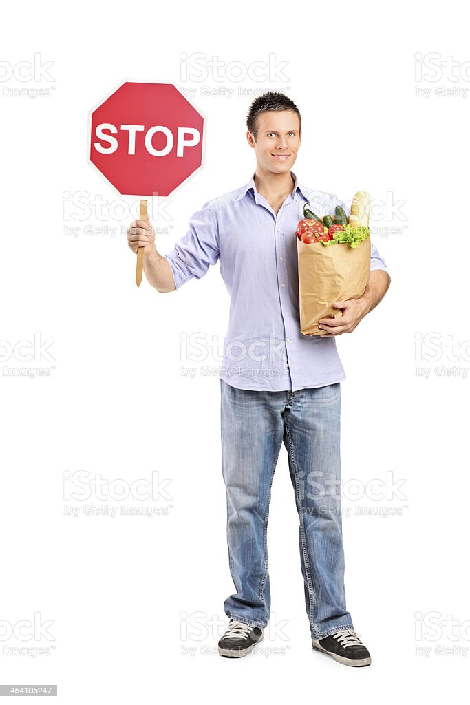 Stop and shop here stock photo
