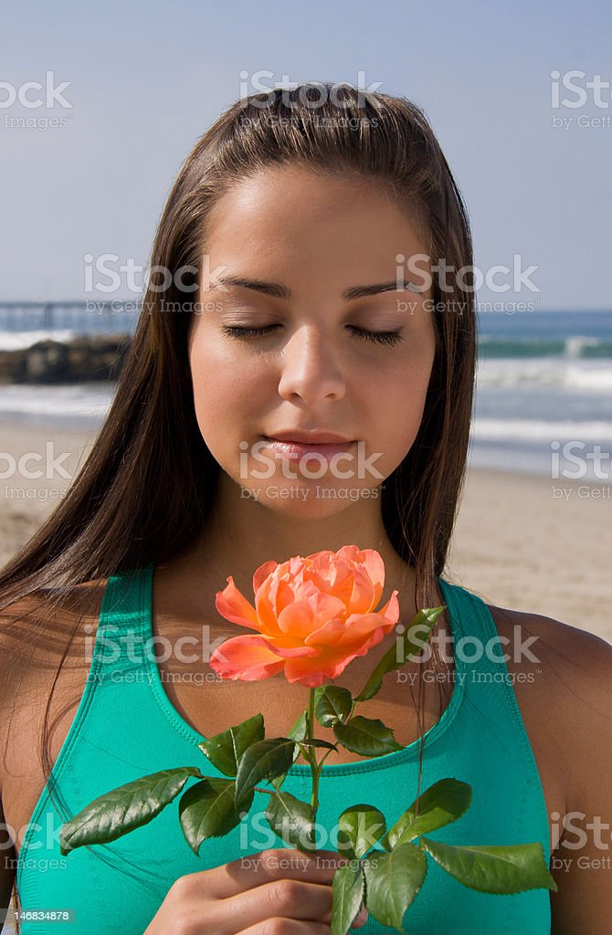 Stop and Smell the Roses royalty-free stock photo