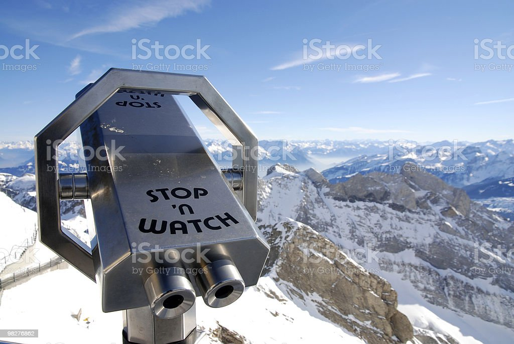 stop and watch magnificent swiss alps royalty-free stock photo