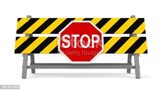 istock Stop barrier #2 627914830