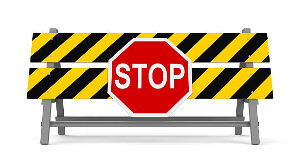 Stop barrier #2 stock photo