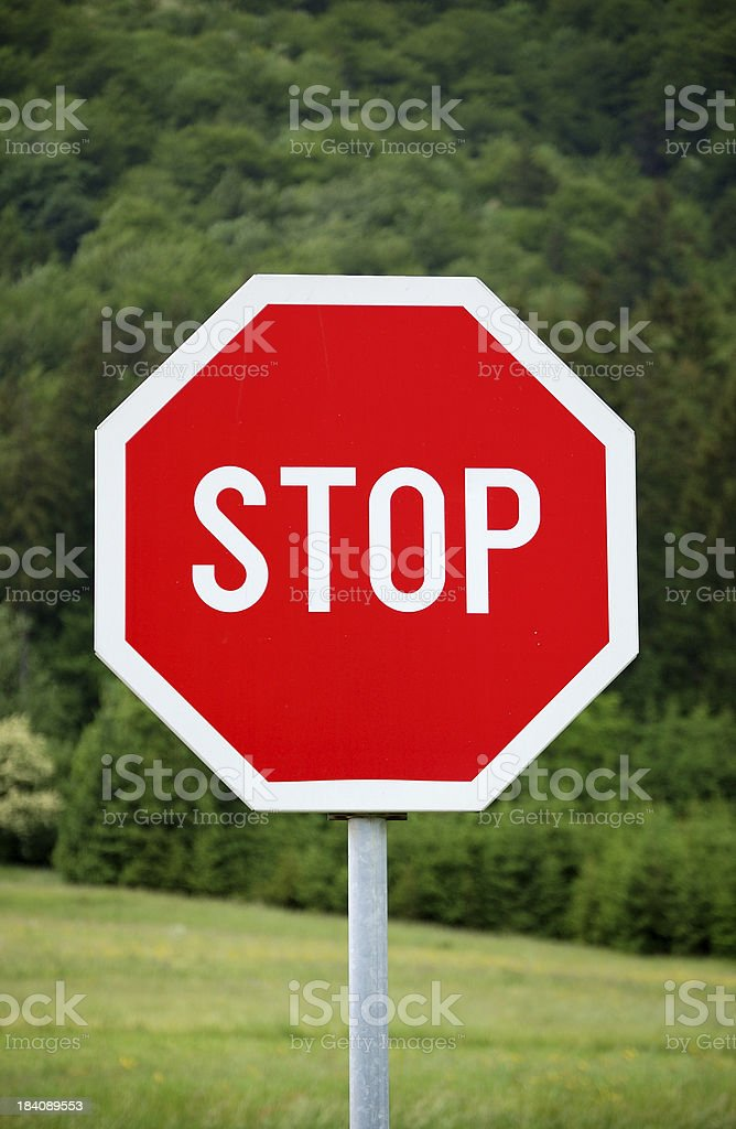 Stop Before Entering the Forest royalty-free stock photo
