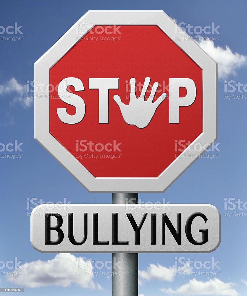 stop bullying stock photo