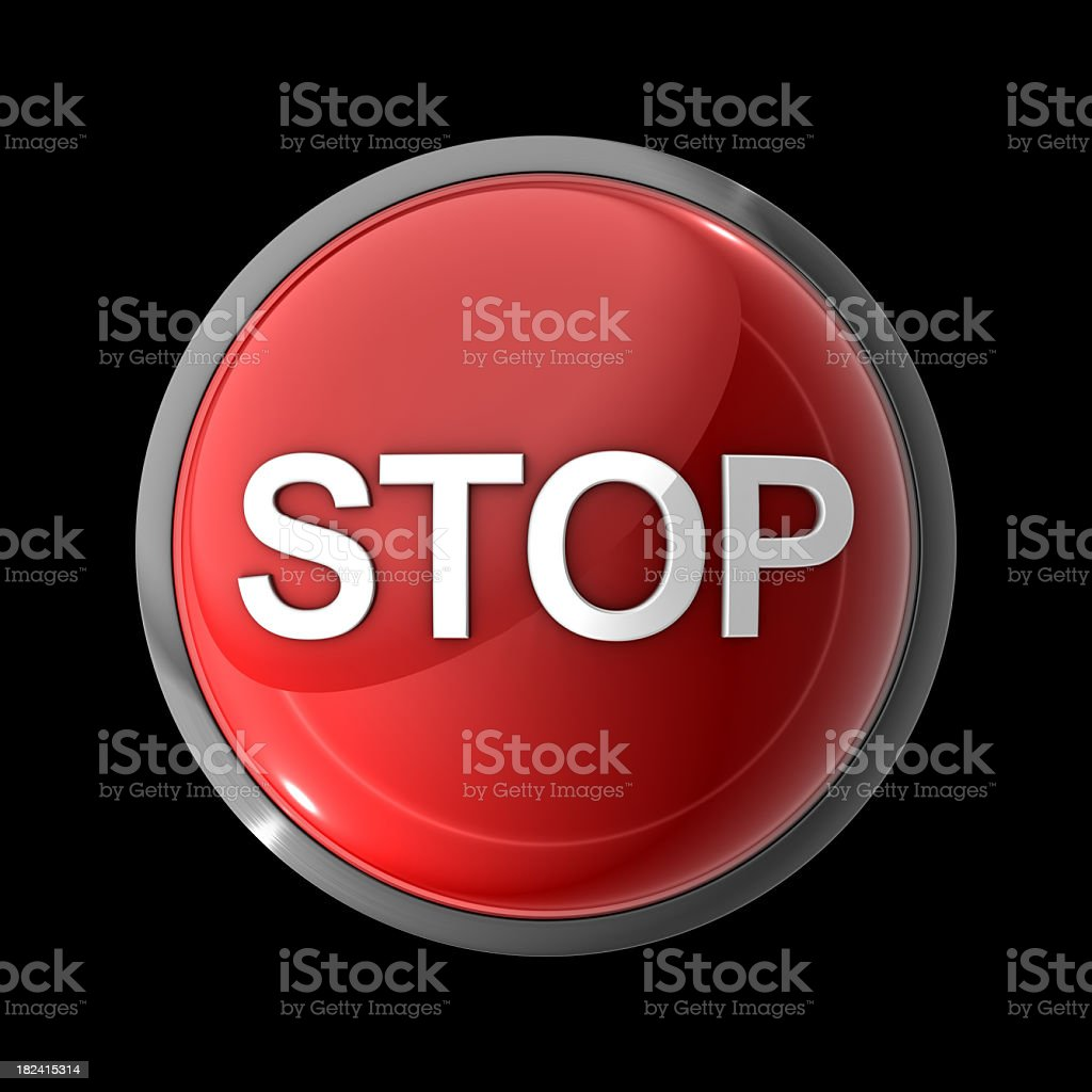Stop Button royalty-free stock photo