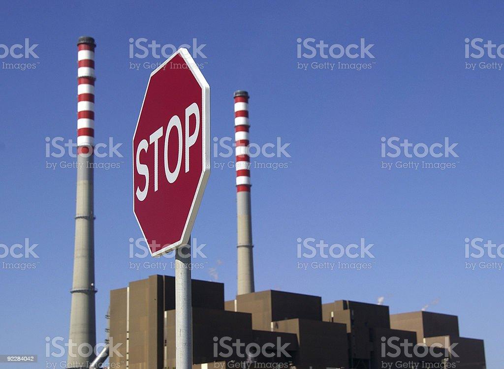 Stop Coal Power Station stock photo