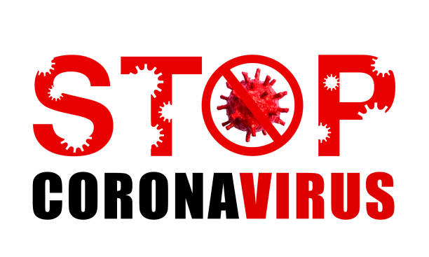 Stop Coronavirus Prohibiting Sign isolated on white background Stop Covid-19 Sign. Coronavirus 2019-nCoV, Epidemic Virus Respiratory Syndrome, Pandemic Stop Sign Concepts covid icon stock pictures, royalty-free photos & images
