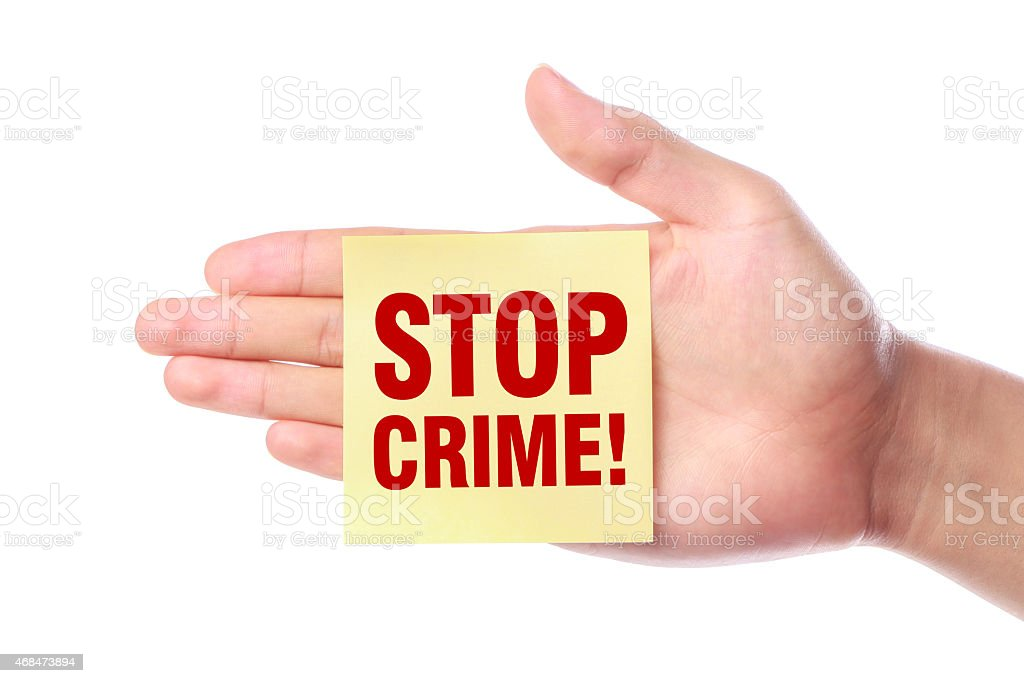 Stop Crime stock photo