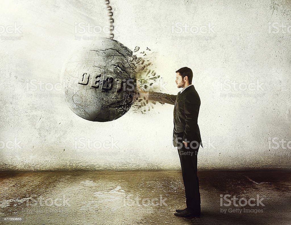 stop debt! stock photo