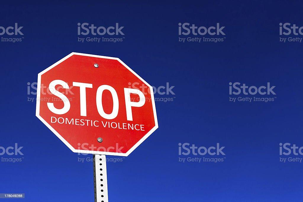 Stop Domestic Violence stock photo