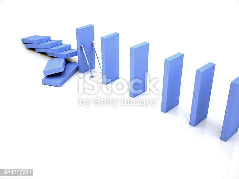 istock Stop Domino Effect and Risk Analyzes 944027014
