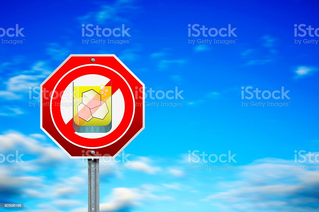 Stop Drinking royalty-free stock photo