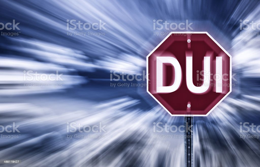 Stop DUI stock photo