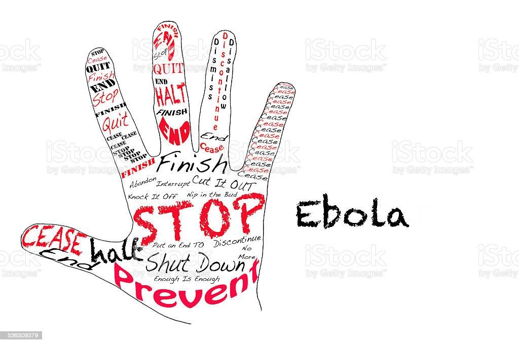 Stop Ebola stock photo