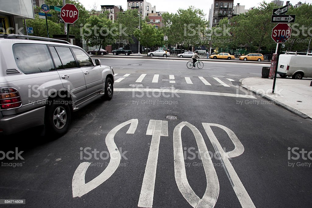 Stop for Cyclists stock photo