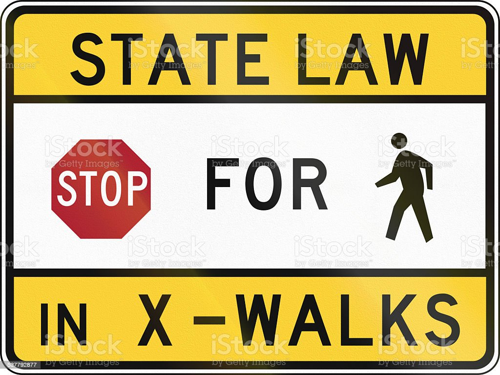 Stop For Pedestrians - Maryland stock photo