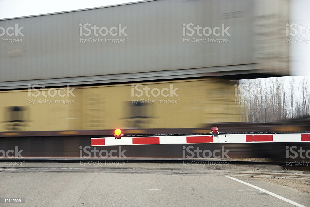 Stop for the Train! stock photo