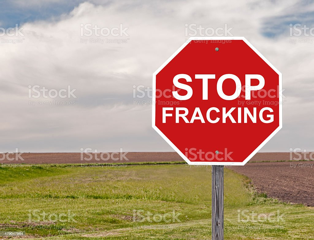 Stop Fracking Sign stock photo