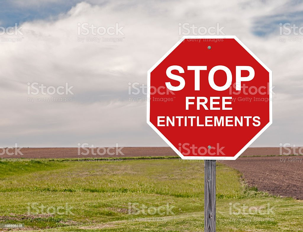 Stop Free Entitlements stock photo