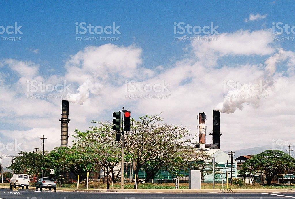 Stop! Global warming on Hawaii royalty-free stock photo