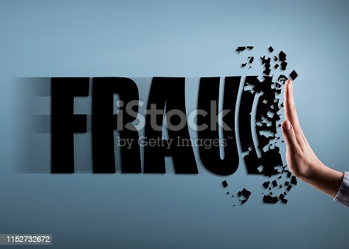 istock FRAUD / Stop hand sign concept (Click for more) 1152732672