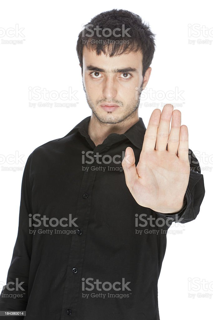 Stop Hand Up royalty-free stock photo